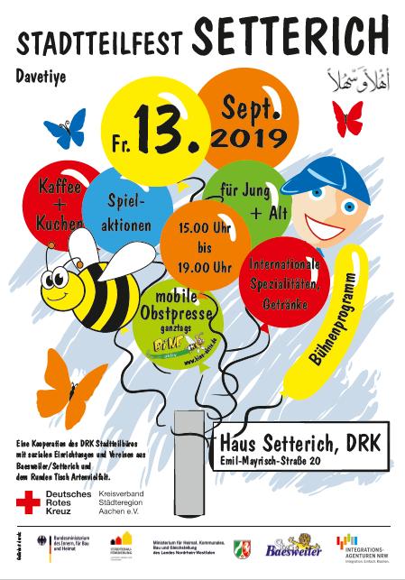 Herzliche Einladung zum Stadtteilfest in Setterich