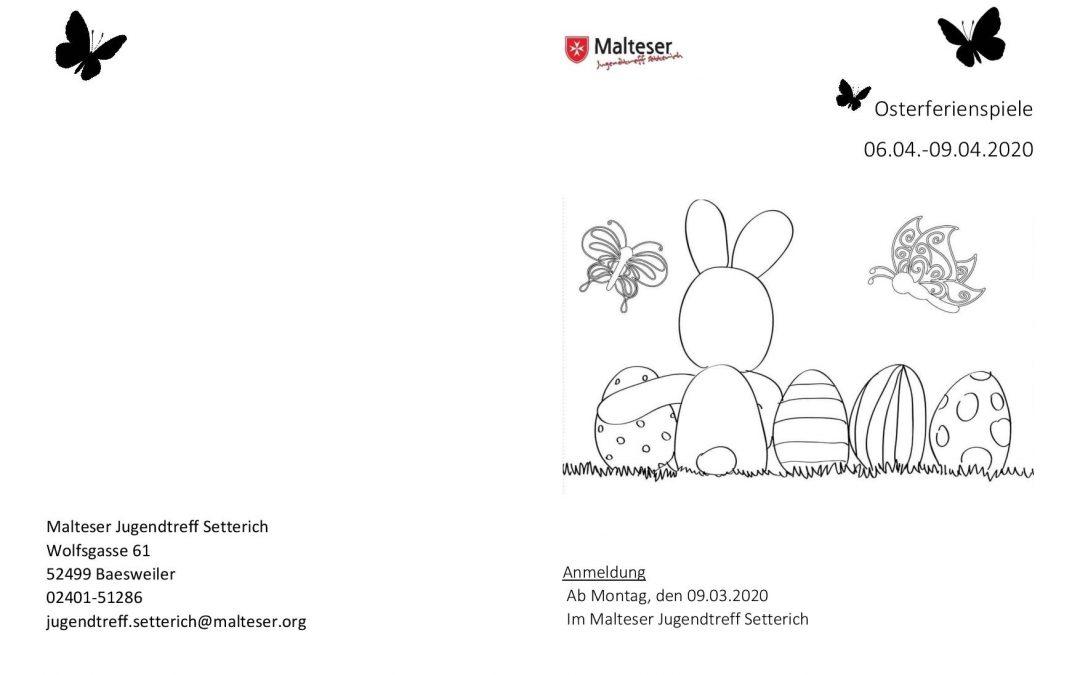 Osterferienspiele im Malteser Jugendtreff Setterich