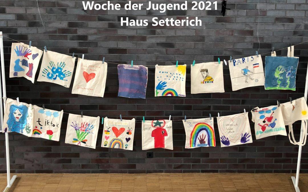 Gestalten von Stofftaschen im Haus Setterich-Woche der Jugend 2021 Baesweiler